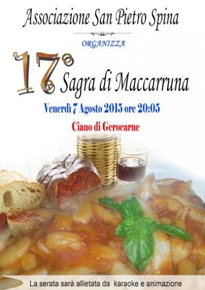 A Ciano di Gerocarne la 17^ 'Sagra di Maccarruna'