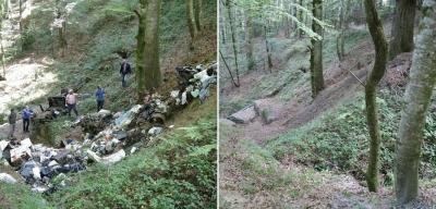 Parco delle Serre, rimosse discariche abusive in località 'Lu Bellu' e 'Belle Donne'