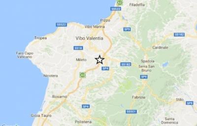 Seconda scossa di terremoto nel Vibonese, magnitudo 1.4