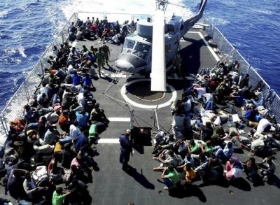 In arrivo a Vibo nave con 763 migranti, a bordo anche un cadavere
