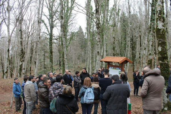 Mongiana, inaugurato il percorso scientifico nel bosco Marchesale